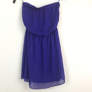 Purple Strapless Dress from Express, Size XS